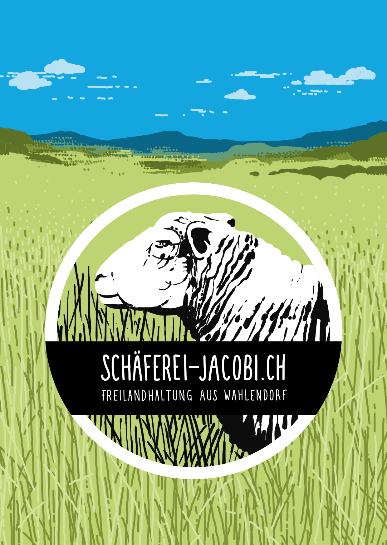 Flyer, Schäferei Jacobi, Freilandhaltung aus Wahlendorf