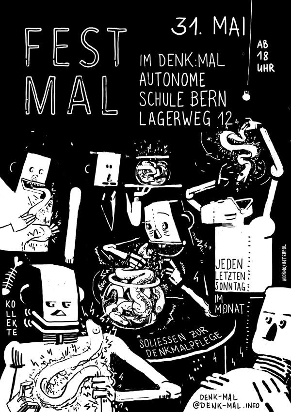 Flyer Fest:Mal, Roboter mit Zitteraalen