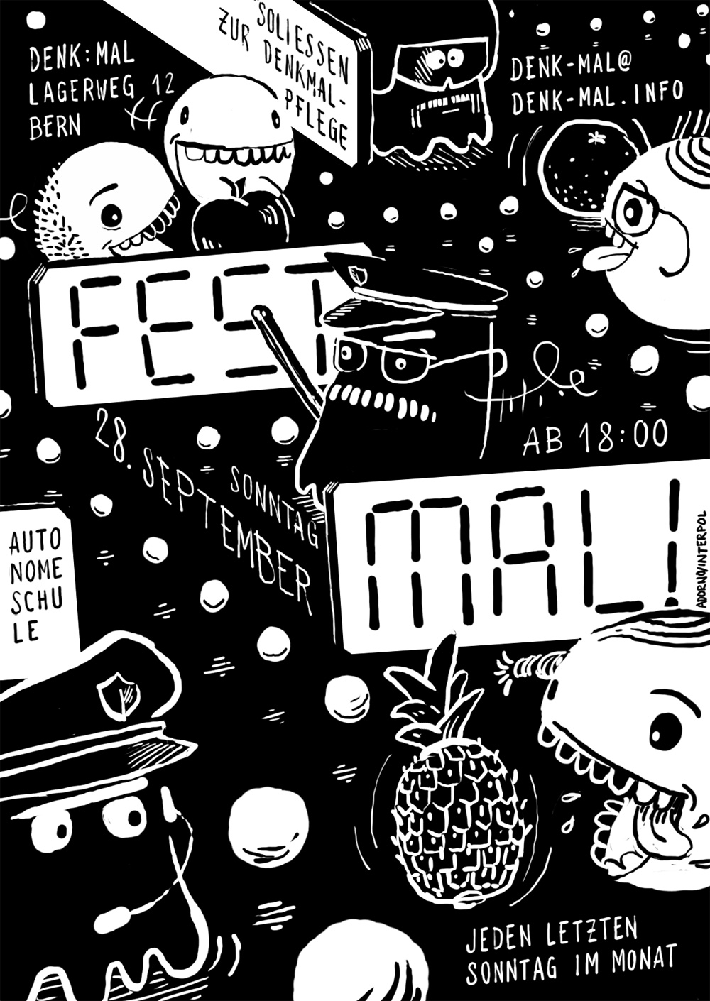 Flyer Fest:Mal, Pacman feat. teh Police
